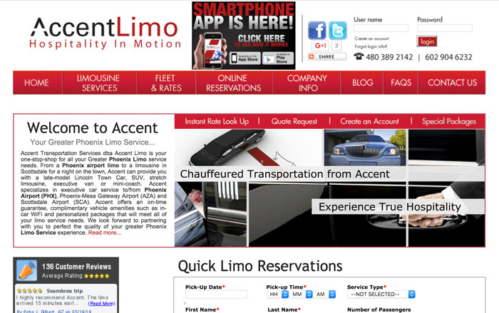 Accent Transportation Website